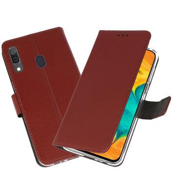 Booktype Wallet Cases Hoesje voor Samsung Galaxy A30 Bruin