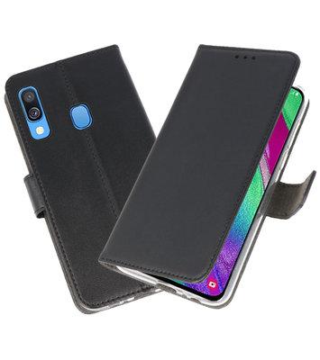 Booktype Wallet Cases Hoesje voor Samsung Galaxy A40 Zwart