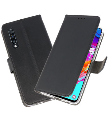 Booktype Wallet Cases Hoesje voor Samsung Galaxy A70 Zwart