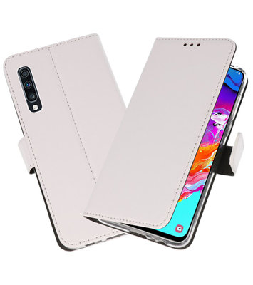 Booktype Wallet Cases Hoesje voor Samsung Galaxy A70 Wit