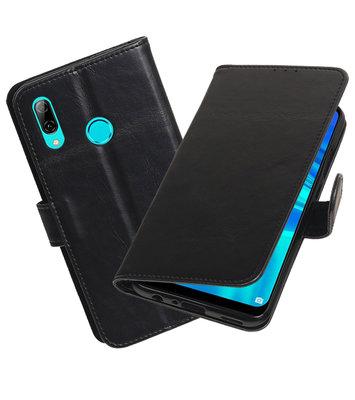 Motief Bookstyle Hoesje voor Huawei Honor 10 Lite Zwart