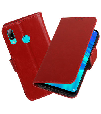 Motief Bookstyle Hoesje voor Huawei Honor 10 Lite Rood