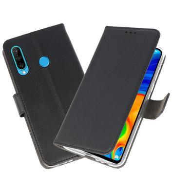 Booktype Wallet Cases Hoesje voor Huawei P30 Lite Zwart
