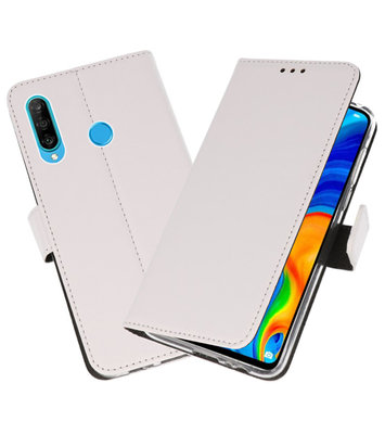 Booktype Wallet Cases Hoesje voor Huawei P30 Lite Wit