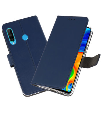 Booktype Wallet Cases Hoesje voor Huawei P30 Lite Navy