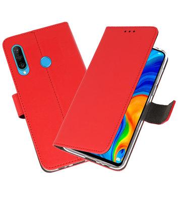 Booktype Wallet Cases Hoesje voor Huawei P30 Lite Rood
