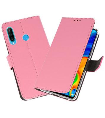 Booktype Wallet Cases Hoesje voor Huawei P30 Lite Roze