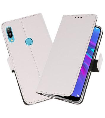 Booktype Wallet Cases Hoesje voor Huawei Y6 / Y6 Prime 2019 Wit