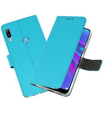 Booktype Wallet Cases Hoesje voor Huawei Y6 / Y6 Prime 2019 Blauw