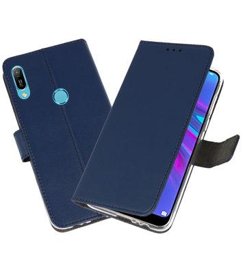 Booktype Wallet Cases Hoesje voor Huawei Y6 / Y6 Prime 2019 Navy