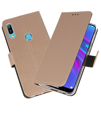 Booktype Wallet Cases Hoesje voor Huawei Y6 / Y6 Prime 2019 Goud