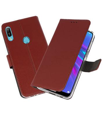 Booktype Wallet Cases Hoesje voor Huawei Y6 / Y6 Prime 2019 Bruin