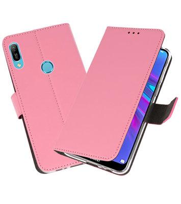 Booktype Wallet Cases Hoesje voor Huawei Y6 / Y6 Prime 2019 Roze