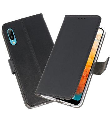 Booktype Wallet Cases Hoesje voor Huawei Y6 Pro 2019 Zwart
