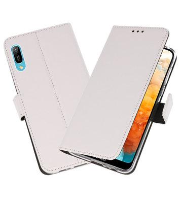 Booktype Wallet Cases Hoesje voor Huawei Y6 Pro 2019 Wit