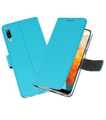 Booktype Wallet Cases Hoesje voor Huawei Y6 Pro 2019 Blauw