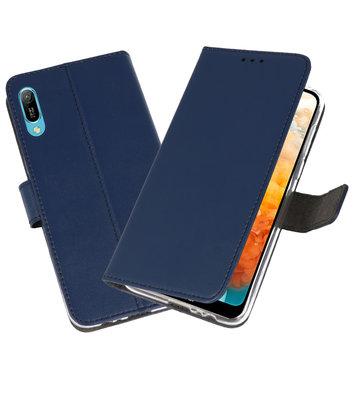 Booktype Wallet Cases Hoesje voor Huawei Y6 Pro 2019 Navy