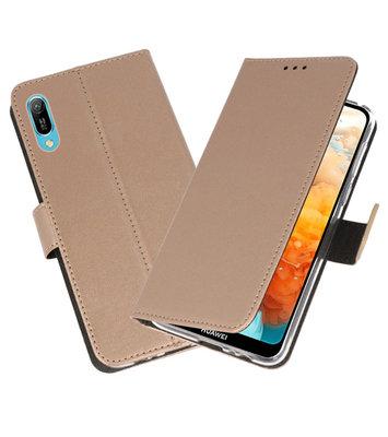 Booktype Wallet Cases Hoesje voor Huawei Y6 Pro 2019 Goud