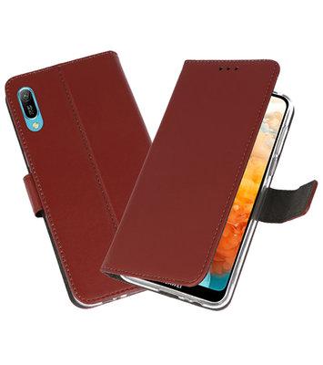 Booktype Wallet Cases Hoesje voor Huawei Y6 Pro 2019 Bruin