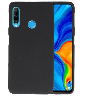 Color TPU Hoesje voor Huawei P30 Lite Zwart