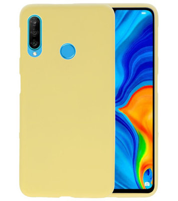 Color TPU Hoesje voor Huawei P30 Lite Geel