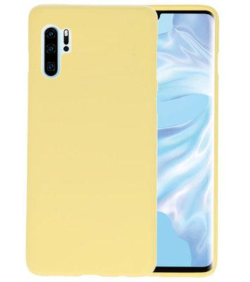 Color TPU Hoesje voor Huawei P30 Pro Geel