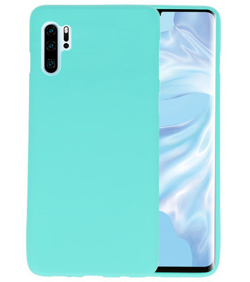 Color TPU Hoesje voor Huawei P30 Pro Turquoise