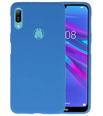 Color TPU Hoesje voor Huawei Y6 (Prime) 2019 Navy