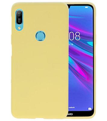 Color TPU Hoesje voor Huawei Y6 (Prime) 2019 Geel