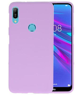 Color TPU Hoesje voor Huawei Y6 (Prime) 2019 Paars
