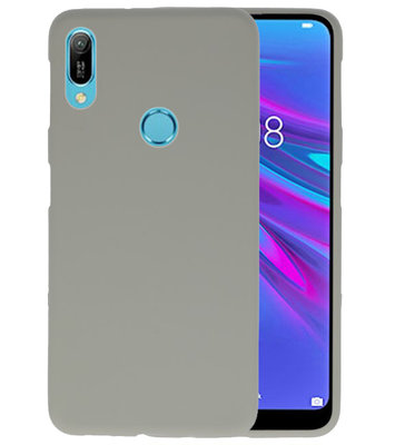 Color TPU Hoesje voor Huawei Y6 (Prime) 2019 Grijs