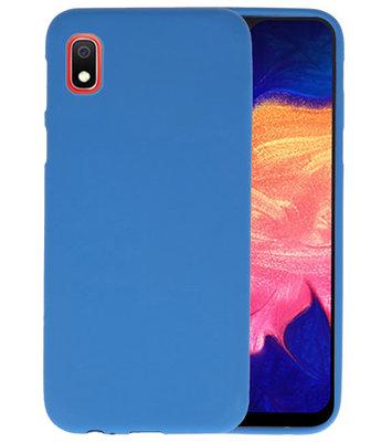 Color TPU Hoesje voor Samsung Galaxy A10 Navy