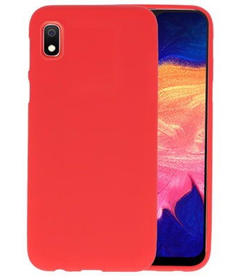 Color TPU Hoesje voor Samsung Galaxy A10 Rood