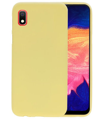 Color TPU Hoesje voor Samsung Galaxy A10 Geel