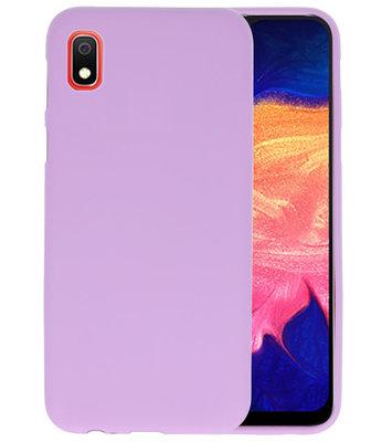 Color TPU Hoesje voor Samsung Galaxy A10 Paars