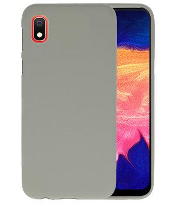 Color TPU Hoesje voor Samsung Galaxy A10 Grijs