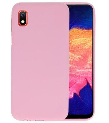 Color TPU Hoesje voor Samsung Galaxy A10 Roze