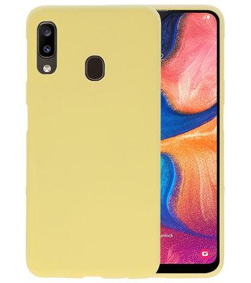 Color TPU Hoesje voor Samsung Galaxy A20 Geel