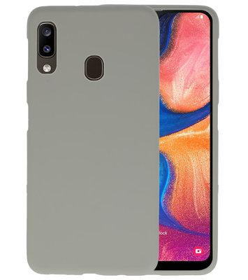 Color TPU Hoesje voor Samsung Galaxy A20 Grijs