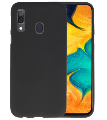 Color TPU Hoesje voor Samsung Galaxy A30 Zwart