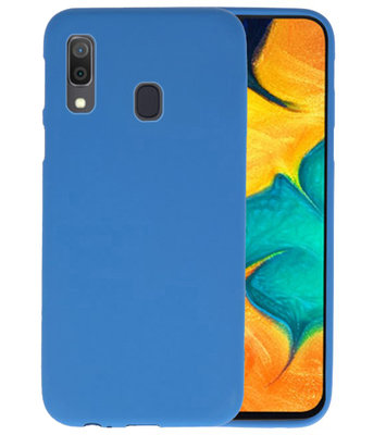 Color TPU Hoesje voor Samsung Galaxy A30 Navy
