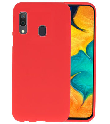 Color TPU Hoesje voor Samsung Galaxy A30 Rood