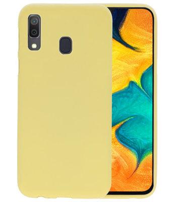 Color TPU Hoesje voor Samsung Galaxy A30 Geel