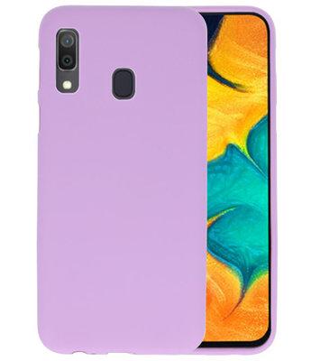 Color TPU Hoesje voor Samsung Galaxy A30 Paars
