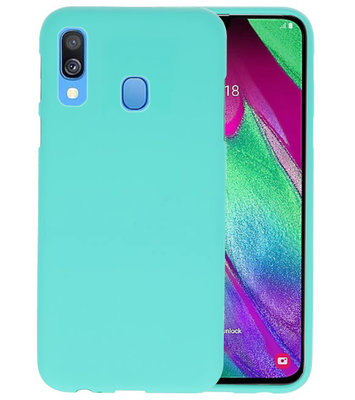 Color TPU Hoesje voor Samsung Galaxy A40 Turquoise