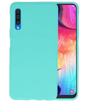 Color TPU Hoesje voor Samsung Galaxy A50 Turquoise