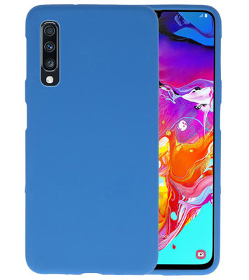 Color TPU Hoesje voor Samsung Galaxy A70 Navy