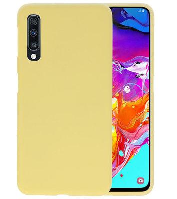 Color TPU Hoesje voor Samsung Galaxy A70 Geel