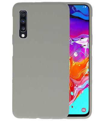 Color TPU Hoesje voor Samsung Galaxy A70 Grijs