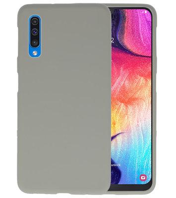 Color TPU Hoesje voor Samsung Galaxy A50 Grijs